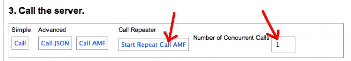Amfphp Service Browser Call Repeater