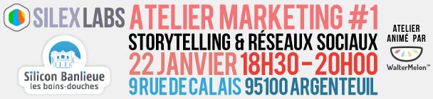 Atelier Marketing #1 : Storytelling & réseaux sociaux