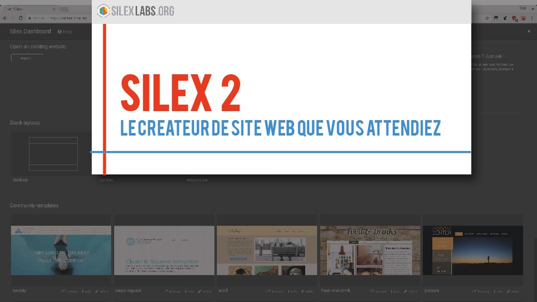 silex v2 le cr ateur de site web que vous attendiez silex labs. Black Bedroom Furniture Sets. Home Design Ideas